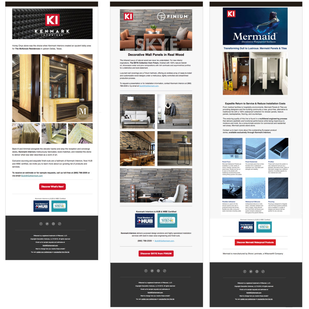 Email Marketing, Architectural Design, Brand Naming, Interior Design Marketing,